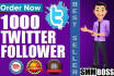 provide You 1000 Real Looking Twitter