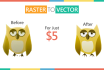convert your raster image to HD vector