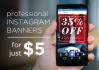 create professional Promotion Instagram post with images and texts