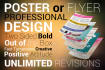 design a professional Poster or Flyer