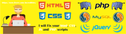 fix your html, css, js and php scripts