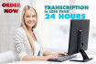 do 15 minutes TRANSCRIPTION of audio or video