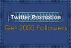 promote and market your twitter account to help get you 1000 real followers