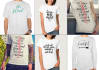 create Brush Lettering TShirts design within 24hrs