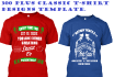 give You 300 Classic Tshirt Designs Editable Template