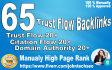 do 65 high Trust flow and citation flow backlinks on high DA