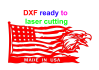 create DXF files for laser and plasma cutting