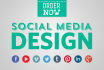 design an awesome header for social media