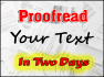 proofread your text to perfection