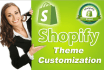 customize shopify ecommerce theme feel and look