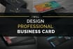 design a Professional Business Visiting Card