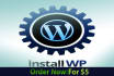 install and Configure WordPress for your site