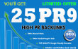 25 top quality Backlinks high authority from PR8 PR 9