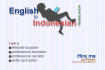 translate English to Indonesian in a concise style
