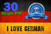 provide 30 German quality backlinks, from german high PR social bookmarking site
