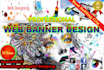 design Stunning and exclusive Web banner