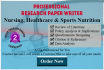 write Nursing Healthcare and Sports Sciences Research Papers
