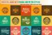 design Creative Logo With Badges And Vintage Retro Styles