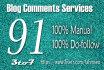 do 91 manual dofollow high PR backlinks 3to7
