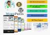 create a wordpress Professional Website with Blog,full Money back guarantee