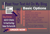 post your text ad on my blog