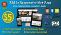convert PSD to responsive webpage
