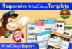 design Cerative RESPONSIVE Mailchimp Email Template