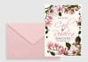design Beautiful Blush Magnolia Save the Date Printable