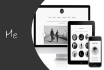 design creative about me responsive landing page