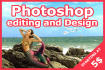 do any GRAFIC design work on photoshop
