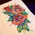 create watercolor tattoo design