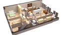 create a 3D Floor Plan of any size