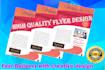 design attractive flyer and logo design