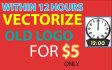 convert gif jpeg jpg png image or Logo To Vector ai