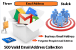 give you manually collect 500 Valid Email address