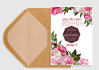 design Peony Theme Save the Date and Wedding Invite