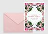 design a minimalist bouquet Save the Date Printable