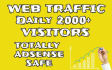 drive 2000 PLUS,website,traffic to your ,website or blog