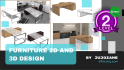 design furniture plan 2D and 3D