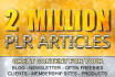 send my massive 2 Million plr articles 1000 MRR ebooks