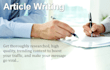 write an excellent article for your blog