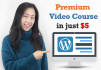 provide wordpress video course