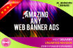 create a Professional ANIMATED web banner,header,ad,cover