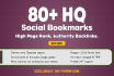 add your site 100 SEO social bookmarks high quality backlinks, rss, ping