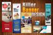 design Killer web banner or ad