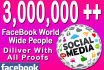 promote your link 3,000,000 real FACEBOOK members
