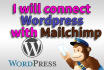 integrate mailchimp to WORDPRESS or any site