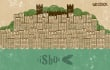 illustrate a city in mosaic style