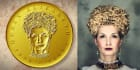 create a Awesome,Sensational Gold Medallion Coin Portrait
