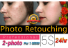 retouch your photo and provide any type of photoshop editing